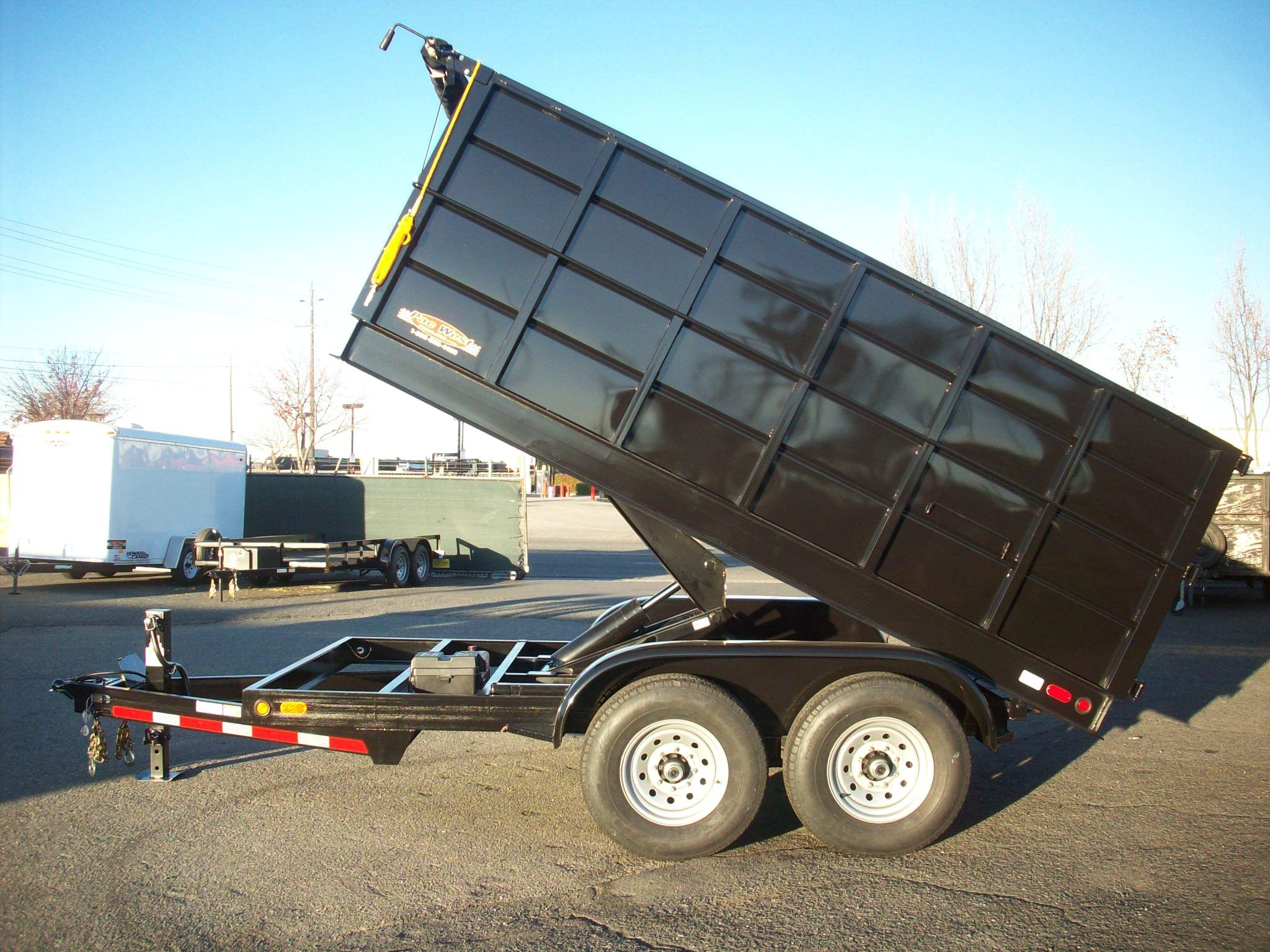 Gallery 7 U0026 39  Wide Heavy Duty Hydraulic Dump Trailers