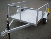 "Custom Light Weight 4' x 6' Utility Trailer with 12"" Tires"