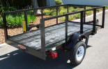 4 x 6 Custom Light Light Utility Trailer with 2' Sides, 2,000lb Top Wind Jack with Caster Wheel, 7 Way Plug