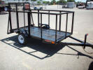 "4 x 8 2,990lb GVWR Custom Flat Bed Trailer with 48"" Ramp, 36"" Sides, Wood Floor, 2"" Coupler"