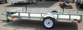 4' x 10' Light Weight Utility Trailer 2,000lb GVWR, Flip up Jack, Spare Tire and Mount, Racks for Kyaks