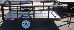 4 x 8 Light Weight Utility Trailer with 2' Sides