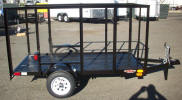 "4 x 8 Light Weight Trailer Custom Built with 2,000lb GVWR, 48"" Sides, A Frame Jack, 12"" Tires and Wheel, 2"" A Frame Coupler"