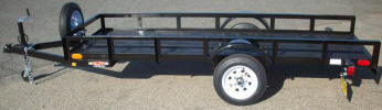"3.5' x 10' Light Weight Built with Spare Tire and Wheel with Bolt Mount, 2,000lb GVWR, 2' Sides, 2,000lb. Slipper Suspension Axle, 3' or 4' Sides, 3x2x3/16 Angle Frame, 4' using 2 x 2 Angle Gate with Expanded Metal, 3x2x3/16 Angle Tongue, Tie Down Hooks, 12"" / 5 on 4.5 Tires and Wheels, Expanded Metal Floor, 2"" A Frame Coupler, Ramp Gate"