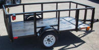 "Custom 50"" x 8' Light Weight Trailer Built with 2,000 GVWR, 2,000lb. Slipper Suspension Axle, 3x2x3/16 Angle Frame, 3x2x3/16 Angle Tongue, 12"" / 5 on 4.5 Tires & Wheels, 2"" A Frame Coupler, 2' Sides, 2' Gate, 2,000lb Tongue Jack, Painted Trailer Undercarriage"