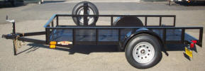 "5'x10' Standard Utility Trailer Built with 2,990lb. GVWR, 3,500lb Axle, 205-75-D15"" Tires & Wheels, Spare Tire and Tire Mount, 2 5/16"" Coupler with Safety Chains, 2,000lb Jack, 2 x 2 Angle Top Rail, 3"" Channel Tongue, Painted Trailer Undercarriage"