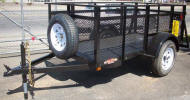 "4' x 8' High Mesh Side Utility Trailer with 2,990lb GVWR, 15"" Tire and Wheel, 3,500lb Axle, 2"" Coupler, 2,000lb Top Wind Jack, 32"" High Sides with 26"" Mesh"