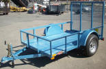 "5' x 8' Standard Utility Trailer Built with 2,990lb GVWR, 4"" Drop Axle, 10"" Rail Sides, 1 7/8"" Coupler, Rear Ramp Gate, Wood Decking"