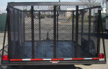"77"" x 10' Single Axle Utility Trailer Built with 2,990lb. GVWR, 3,500lb Axle, 15"", 5 on 4.5 Wheels, 2"" A Frame Coupler 2,000lb Jack, 2 x 2 Angle Top Rail, 3"" Channel Tongue, 48"" Expanded Metal Sides, Painted Trailer Undercarriage"