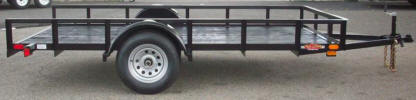 "6'x12' Custom Standard Utility Trailer Built with 2,990lb. GVWR, 3,500lb Axle, 15"" / 5 on 4.5 / 4 Ply Tires & Wheels, 2"" A Frame Coupler, 2,000lb Jack, 2 x 2 Angle Top Rail, Spare Tire and Wheel, 8- 1/2"" D Rings, 3"" Channel Tongue, Painted Trailer Undercarriage"