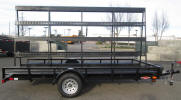 "83"" x 14' Custom Standard Utility Trailer 2,990lb. GVWR, 3,500lb Electric Braking Axle, 15"" / 5 on 4.5 / 4 Ply Tires & Wheels, 2"" A Frame Coupler, 2,000lb Jack, 2"" x 2"" Angle Top Rail, 3"" Channel Tongue, Painted Trailer Undercarriage, Breakaway Kit, 7 Way Plug, 2"" Coupler, Sapre Tire and Wheel, Spare Tire Mount, Flat on Tongue, LED Lights, Strips of E Track on A Frame, A Frame 24"" Opening on Bottom, 7' Tall Frame"