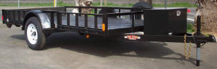 ATV 6x12 Removable Ramps on One Side Custom Pictures Show Trailer with Various Upgrade Options
