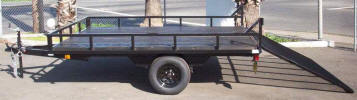 8 x 10 ATV Trailer Picture Shown with Optional Ramp Gate