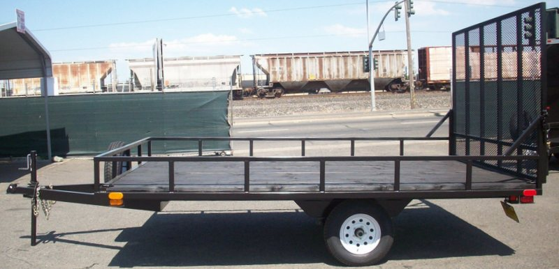 Single Axle Tires : Single axle utility trailers pac west