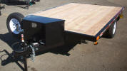 "82"" x 10.5' Custom Flat Bed Trailer with electric brakes, breakaway Kit, 7 way Plug, Radial Tires, Spare Tire and Wheel, 36"" Tongue Box, Winches Welded on, J Hooks, D-Rings"