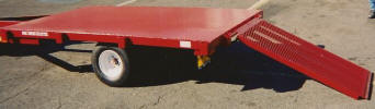 "Low Profile Flatbed 24"" Off the Ground with 20.5 x 8 x 10 Tires"