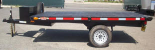 "Custom Flat Bed Trailer 84"" x 10' with 2,990lb GVWR, 3,500lb GVWR Axle, 2"" x 2"" Cross"