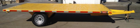 "Custom 8 x 14 Flat Bed Trailer with 2,995lb GVWR, 3,500lb GVWR Axle, 2"" x 2"" Cross members,"