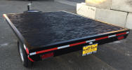 6 x 8 Flat Bed Trailer with 2,995lb GVWR, 2,500lb Axle, Spare Tire and Wheel, Spare Tire Mount, LED Lights, Marine Plywood