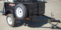"4' x 6' 2,990lb GVWR Custom Jeep Trailer Built with Single Axle, Mounted Spare Tire and Rim, Side Mount Jack with Caster Wheel, 1/2"" Rope Hooks. Shown with Upgrade Options."