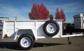 "Custom 50"" x 97.5"" Jeep Trailer Shown with Upgrade Options"