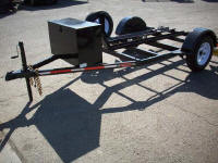 Custom Motorcycle Trailer with 2,990lb GVWR, Spare Tire and Wheel, Spare Tire Mount, Tongue Box, 1 Rail 5' x 13'