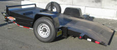 "77x 12 Tiltbed Trailer with 8,000lb Axle, 8 lug tire and wheel, spare tire and wheel, spare tire mount, 16 ply tires, 6"" frame, 7,000lb drop leg jack, 4 1/2 D rings, hydraulic dampner, 1/8in diamond plate floor, a frame box, 2 5/16 couler, brakes, breakaway, stop rail LED lights"