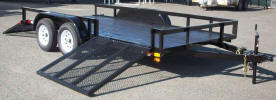 "83"" x 14' Tandem Axle Side Load Trailer Built with Electric Brakes on 1 Axle, Breakaway Kit, 7 Way Plug, 2 5/16 Coupler with Safety Chains, Rear Ramp Gate, Side Ramp Gate, 6 1/2"" D-Rings"