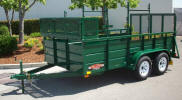 "77"" x 12' 7,000lb GVWR Custom Landscape Trailer Shown with Upgrade Options"