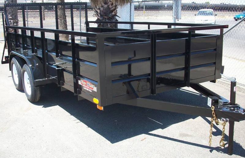 Dual Wheel Axles For Trailer : Tandem axle utility trailers pac west