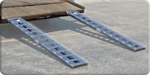 Car Trailer Ramp Pair 2,500lbs or 3,000lbs Per Axle Rate Capacity