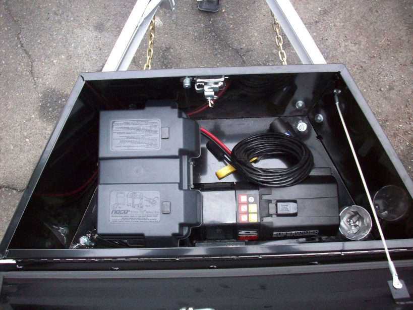 Trailer Tool Box With Winch Mount Flatbed Box With