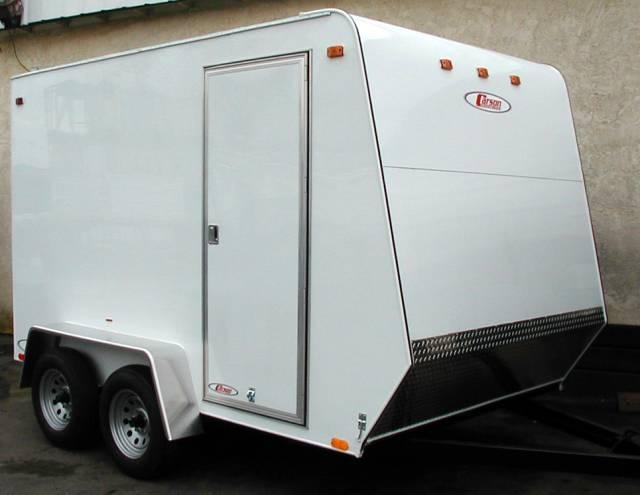 Carson Standard Enclosed Cargo Trailer Shown with upgrade options such as side door. May be & Gallery: Carson 6\u0027 and 7\u0027 Standard Enclosed Cargo Trailers | Pac ...