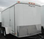 HiWay Cargo made by Carson Trailers. Available with or without the side door and the option of rear barn doors or a rear ramp door.